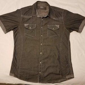 BKE grey button-down shirt